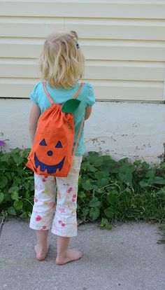 Bless This Mess: DIY No-Sew Pumpkin Backpack