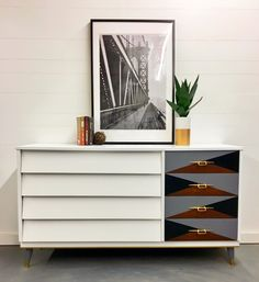 Mid Century Modern with Geometric drawers.