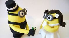 Lolz but he should be giving a banana lolz Despicable Me cake topper!! :)     Wacky wedding cake toppers | Fox News