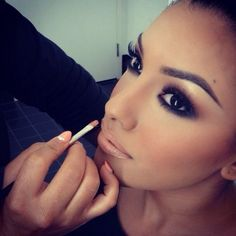 Eyes are beautiful and I Love the nude lips too!