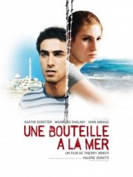 """""""Une bouteille à la mer"""" (""""A Bottle in the Gaza Sea,"""" 2012).  An email relationship between a young (17-year-old or so) Israeli woman and a young Palestinian man.  Very powerful and moving.  Part of the 2013 French film festival.  You can see it on iTunes, or on """"MyFrenchFilmFestival.com""""  If you go to the festival website, just click on the iTunes icon at the bottom of the page.  I've been watching the movies on my computer.  The two I've seen so far are excellent."""