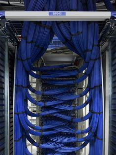 network - beautiful cable management - something to aspire to