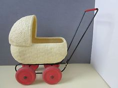 A Vintage Childs Children's / Toddlers Toy Pram / Dolls Pram C.1960's