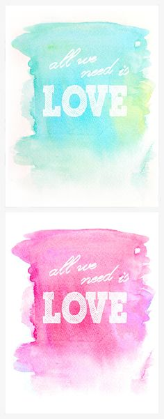 Free watercolor printables
