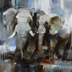 "You can buy original art painting - Animal Painting ""THE OUR SUMMER"" by artist Tetiana Bondareva in online art gallery Jose Art Gallery. Best prices for art! Oil Painting Texture, Oil Painting On Canvas, Canvas Art, Painting Abstract, Animal Paintings, Animal Drawings, Elephant Paintings, Photo Animaliere, Elephant Wall Art"