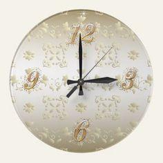 Gold Lace Wall Clock   http://www.zazzle.com/gold_lace_wall_clock-256507025324888563?gl=UTeezSF=238346027810244797