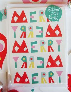 print & pattern: XMAS 2013 - esther cox