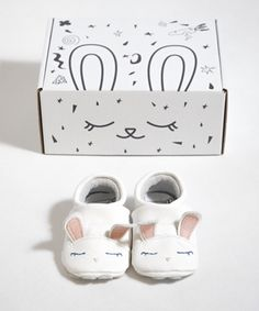 Soft sole baby shoes for toddlers. Cute Rabbit by First Baby Shoes.