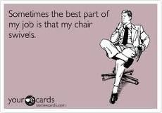 Ahh, yes!!  I loved my office chair at the church!  It was the best in the building.  work #work #office