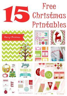 Free Christmas Printables on iheartnaptime.net