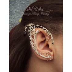 Pair of elf ear cuffs White frost ($43) ❤ liked on Polyvore