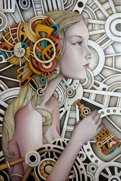 Iyan de Jesus is a multi-disiplined artist from Philippines who enjoys in oil & acrylic paintings, watercolor and digital art. Her oil on canvas paintings are absolutely amazing with mixed style of fantasy, steampunk and masterpieces on colors, details.