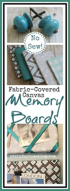 How to Make a NO SEW Memory Board-from The Everyday Home