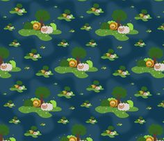 Dream of peace fabric by ellila on Spoonflower