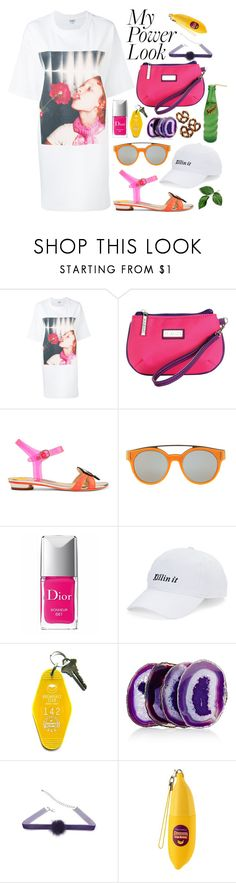 """Power Look"" by karla-jhoana ❤ liked on Polyvore featuring Kenzo, Hadaki, Sophia Webster, Givenchy, Christian Dior, SO, Three Potato Four, Anna New York and TONYMOLY"