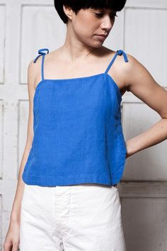 Image of Rachel Comey Sol Crop Top - blue Career In Fashion Designing, Diy Clothes, Clothes For Women, Size Zero, Inspiration Mode, Rachel Comey, Facon, Corsage, Clothing Patterns