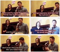 Oh Jared... - convention panel, Supernatural - Jensen Ackles, Jared Padalecki - Dean Winchester, Sam Winchester
