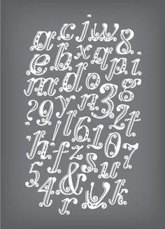 High Tea Typeface by Karen Lin