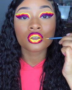 New Electric Liners from @ABHcosmetics 💕 Follow my TikTok Fire Makeup, Makeup Eye Looks, Eye Makeup Art, Beautiful Eye Makeup, Colorful Eye Makeup, Full Face Makeup, Skin Makeup, Baddie Makeup, Creative Makeup Looks