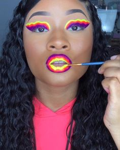 New Electric Liners from @ABHcosmetics 💕 Follow my TikTok Claire's Makeup, Fire Makeup, Eyebrow Makeup Tips, Baddie Makeup, Makeup Eye Looks, Eye Makeup Steps, Glitter Eye Makeup, Dark Skin Makeup, Full Face Makeup