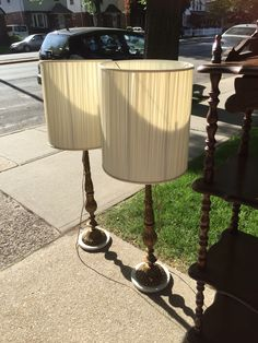 I wanted these those bad but I was way over budget.. Damn  Tall marble base brass lamp