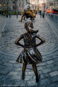 STANDOFF - Composition Friday #PhotoOfTheDay #fearlessgirl #bull #Standoff #WallStreet #BowlingGreen #NewYork #NYC #WomenRights #womenrisingup #WomensMarch #WomensMarchNYC #WomenStrike #IWD #monument #Photography #streetphotography #NikonPhotography #Nikon #2017 #ErikMcGregor    © Erik McGregor - erikrivas@hotmail.com - 917-225-8963