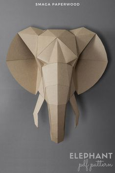 Elephant paper wall art Elephant Wall Decor, Baby Elephant Nursery, Little Elephant, Boho Nursery, Elephant Gifts, Circus Decorations, Carnival Themes, Handmade Decorations, Paper Decorations