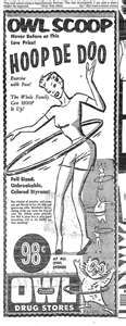 The Hula Hoop was invented in 1958. The same year Brad and I married.