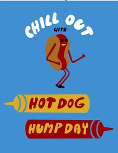 poster for Hot Dog Wednesdays at Royal Blue Grocery
