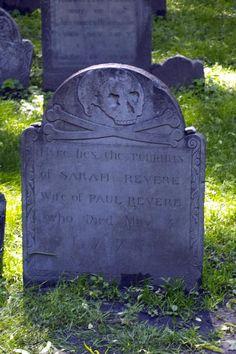 Sarah Revere (wife of Paul) - Granary Burying Ground, Boston