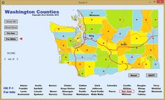 Made the program to help myself finally learn all the Washington counties.