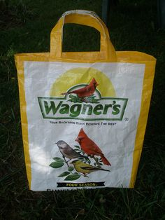 20lb Wagners Tote Bag, also cute with Purina chick, orhorse feed bags