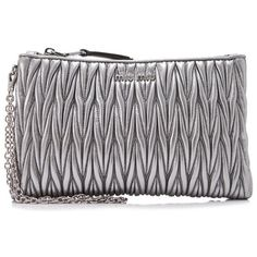 c95cccf961 Miu Miu Matelasse Small Wristlet ( 540) ❤ liked on Polyvore featuring bags