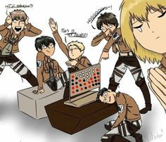 Attack on Titan << getting owned at connect 4