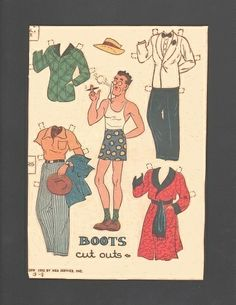 3-8-42 Boots paper doll of Professor Stephen http://www.pinterest.com/toysandart/my-favourite-paper-doll-sheets-paper-doll-board-3/