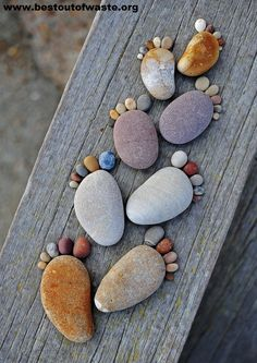 Best Out Of Waste | Creativity with Stones as Garden Decoration Idea | http://bestoutofwaste.org