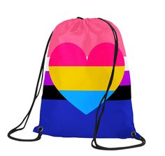 Im actually just pan (low key dont feel like any gender, call me whatever you want idc) Gay Outfit, Braid Patterns, Pansexual Pride, Lgbt Love, Pride Parade, Sporty Style, Lesbian, Drawstring Backpack, School Shopping