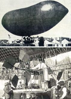 The Eagle, 1903. American dirigible powered by two rotary propellers driven by a 12hp auto engine.