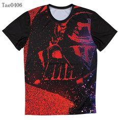 Galaxy Star Wars Mens 3D T Shirt Casual Tees TVI hwd 80's