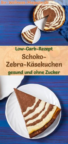 Easy Cacke : Lightweight Chocolate Zebra Cheesecake Bottomless: Low-carb recipe for chocolaty . Low Carb Cheesecake, Chocolate Cheesecake, Nutella Recipes, Chocolate Recipes, Easy Cake Recipes, Baking Recipes, Low Carb Desserts, Low Carb Recipes, Pork Chop Recipes