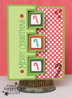 Luv 2 Scrap n' Make Cards: Candy Cane Christmas with The Stamps of Life, Christmas Card, Sizzix
