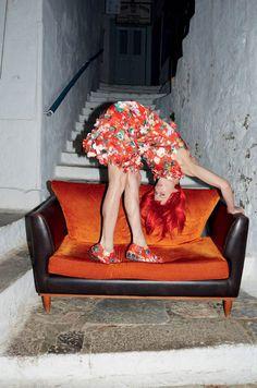 Vogue UK March 2015 - Saskia De Brauw by Juergen Teller - Simone Rocha