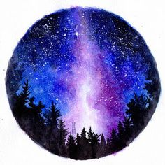 Use Aesthetic Galaxy and thousands of other assets to build an immersive game or. Use Aesthetic Galaxy and thousands of other assets to build an immersive game or experience. Select from a wide range of. Kunst Inspo, Art Inspo, Painting Inspiration, Watercolor Galaxy, Watercolor Art, Simple Watercolor, Watercolor Animals, Watercolor Background, Watercolor Landscape