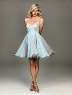 A-line Sweetheart Strapless Embroidery Aqua/Grey Floor-length Prom Dress PD1254 www.simpledresses.co.uk £75.0000