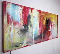 Quadro astratto per soggiorno quadri dipinti sauro bos for Pittura soggiorno moderno