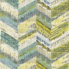 Chevron Weave Wallpaper - Lime