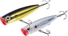 Different categories of lures and manufacturers