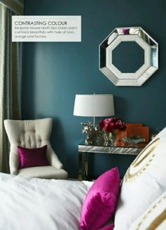 Love the colour scheme. Wall colour could work for the study with all the burgundy chairs