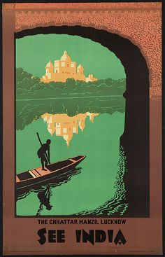 India - vintage travel poster