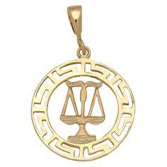 #Horóscopo Libra de Oro 18 Kl. : Joyeria online | joyeria plata | joyeria de plata Descubre en Minoplata la preciosa colección de signos del horóscopo de Oro de 18 kl. que tenemos a tu disposición...  Aquí te ofrecemos un precioso diseño de Colgante, está realizado en Oro de 18 Kl. con el signo del zodiaco Libra con greca en el filo.  ¡Decídete ahora y podrás tener este original Colgante signo del zodiaco Libra de Oro 18 Kl. en tres días laborables!  Medidas: 1,85 Cm. de diámetro
